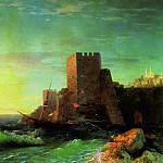 Ivan Konstantinovich Aivazovsky - Towers on a rock near the Bosphorus 1859 107h161