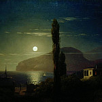 Ivan Konstantinovich Aivazovsky - Moonlit Night in the Crimea in 1859 58,3 h76, 2