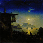 Moonlit Night in the Crimea. Gurzuf 1839 101h136, 5, Ivan Konstantinovich Aivazovsky