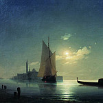 Ivan Konstantinovich Aivazovsky - Gondolier at sea at night 73h112 1843