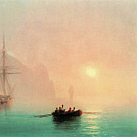 Ayu-Dag on a foggy day in 1853 28h36, Ivan Konstantinovich Aivazovsky