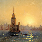 Ivan Konstantinovich Aivazovsky - Type Leandrovoy tower in Konstantinop. 1848 58h45, 3