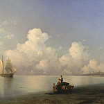 Evening at Sea 1871 129h164, Ivan Konstantinovich Aivazovsky