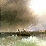 Ivan Konstantinovich Aivazovsky - Type of Odessa from the sea