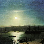 Ivan Konstantinovich Aivazovsky - Bosphorus by Moonlight 1874 73h94