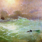 Ivan Konstantinovich Aivazovsky - ship in a storm in 1896 79h97
