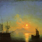 Ivan Konstantinovich Aivazovsky - Bay of Naples by Moonlight 1858 121h191