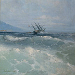 In the waves of 1893, Ivan Konstantinovich Aivazovsky