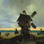 Ivan Konstantinovich Aivazovsky - Windmill on the Sea 1837 67H96