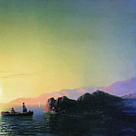 Sunset at the Crimean coast in 1856 58,5 h83, 7, Ivan Konstantinovich Aivazovsky
