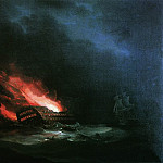 burning ship. One Russian-Turkish War, Ivan Konstantinovich Aivazovsky