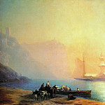 Morning on the beach. Sudak 1856 96h146, Ivan Konstantinovich Aivazovsky