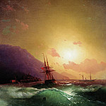 Ivan Konstantinovich Aivazovsky - On the coast of Yalta 1864 62h80