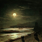 Ivan Konstantinovich Aivazovsky - Moonlit Night. Seashore 1885 18h23, 9