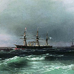 Ship at sea 1870 28x40, Ivan Konstantinovich Aivazovsky