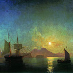 Ivan Konstantinovich Aivazovsky - Kind of Vesuvius by Moonlight 1858 121h190