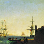 Ivan Konstantinovich Aivazovsky - Port of La Valletta on the island of Malta in 1844 61h101