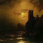 Ivan Konstantinovich Aivazovsky - Tower. Shipwrecked 1847 77h61
