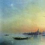 Ivan Konstantinovich Aivazovsky - Type of Venice lagoon at sunset 1873 63h99
