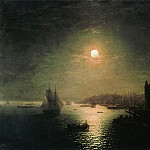 Ivan Konstantinovich Aivazovsky - Moonlit Night in Constantinople in 1884 81h116