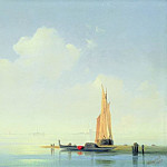 Ivan Konstantinovich Aivazovsky - Venetian Lagoon. View on the island of San Giorgio 1844 22,5 x34, 5