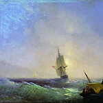 Ivan Konstantinovich Aivazovsky - escaping from shipwreck 1844 57h85