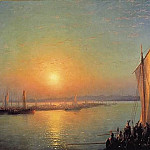Ivan Konstantinovich Aivazovsky - Varangian saga - the way of the Vikings to the Greeks 1876 132h235