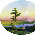 Ivan Konstantinovich Aivazovsky - View on Moscow from Sparrow Hills 1848 40h51