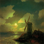 Ivan Konstantinovich Aivazovsky - Mill on the beach 1851 50h57