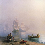 Ivan Konstantinovich Aivazovsky - Morning in the Bay of Naples in 1873 70,4 h95