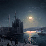 Ivan Konstantinovich Aivazovsky - Moonlit Night on the Bosphorus 1894 49,7 h75, 8