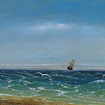 Sailing in the sea 1881, Ivan Konstantinovich Aivazovsky