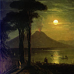 Ivan Konstantinovich Aivazovsky - Bay of Naples by Moonlight. Vesuvius 1840 26,8 x20