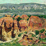 Apollinaris M. Vasnetsov - Red Rocks in Kislovodsk. 1895