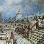 Apollinaris M. Vasnetsov - Moscow under Ivan the Terrible. Red Square. 1902