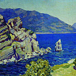 View from the swallows nest. Crimea. 1924, Apollinaris M. Vasnetsov