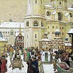 Area of Ivan the Great in the Kremlin. XVII century. 1903, Apollinaris M. Vasnetsov