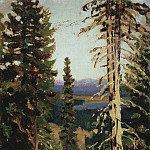Apollinaris M. Vasnetsov - Forest at Mount Grace. Middle Urals. 1890