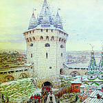 Semiverhaya corner tower of the White City in the XVII century. 1924, Apollinaris M. Vasnetsov