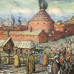 cannon-foundry Neglinnaya River in the XVII century. 1918, Apollinaris M. Vasnetsov