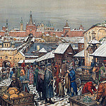 Apollinaris M. Vasnetsov - Bargaining in Nizhny Novgorod. 1908-1913