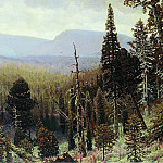 Apollinaris M. Vasnetsov - Taiga in the Urals. Blue Mountain. 1891