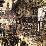 Apollinaris M. Vasnetsov - On the sacrum in China-town. 1902