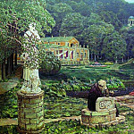 Apollinaris M. Vasnetsov - Noise old park. 1926
