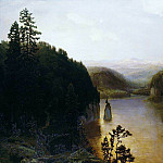 Lake in the mountains of Bashkortostan. Ural. 1895, Apollinaris M. Vasnetsov