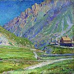 Mountain landscape. 1895, Apollinaris M. Vasnetsov