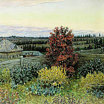 view from the dining-room window. Ryabovo. 1919, Apollinaris M. Vasnetsov