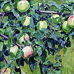 The branch of apple. 1930, Apollinaris M. Vasnetsov