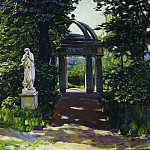 Rotunda Milovidov Naydenovskom in the park. Moscow. 1920, Apollinaris M. Vasnetsov