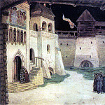 Area in besieged Kitezh. 1906, Apollinaris M. Vasnetsov